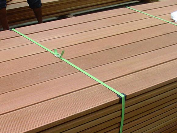 Yellow balau decking image timber trades journal online for B and q timber decking
